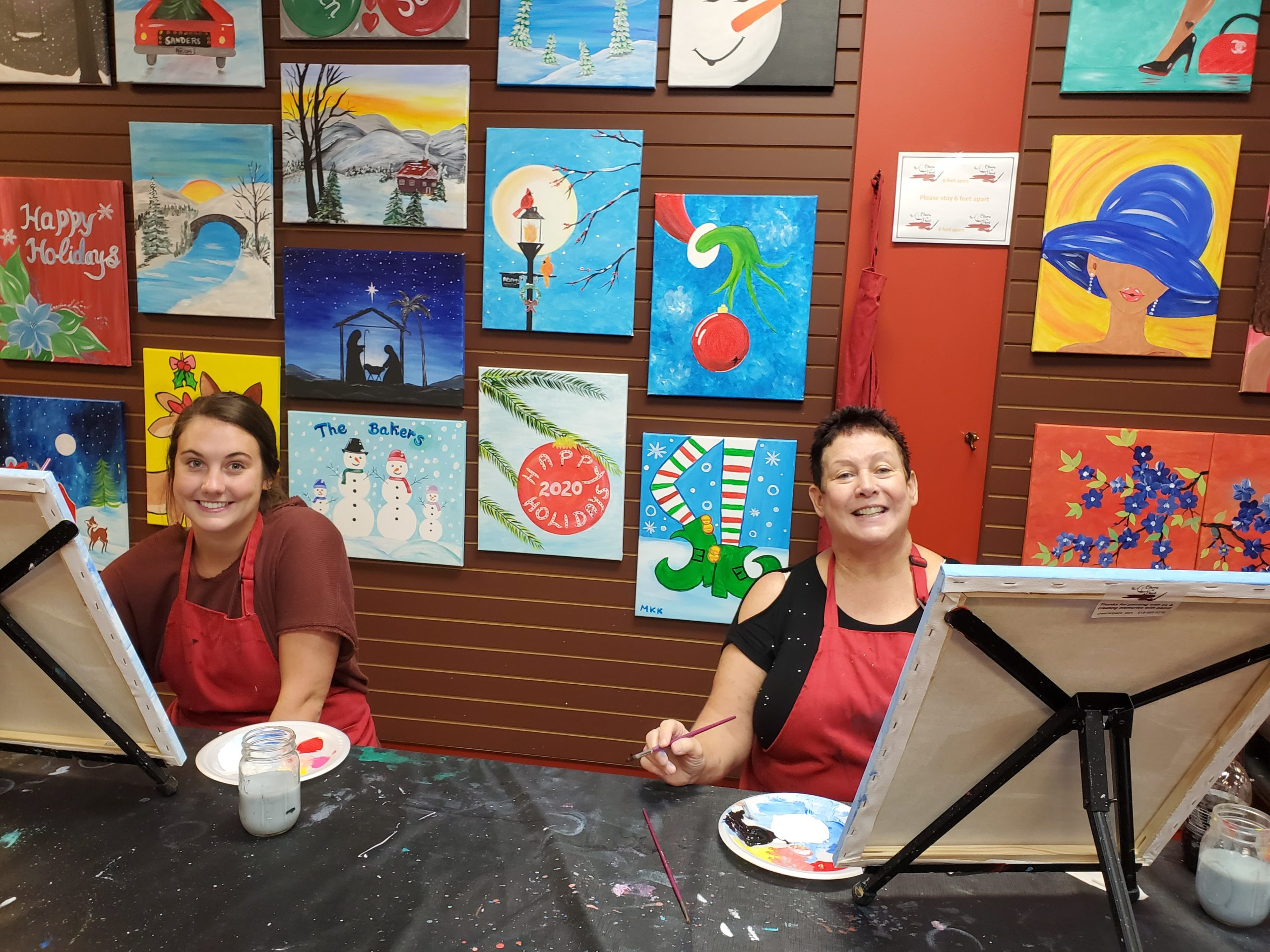 Paint Class: Open Studio Paint Session In-Person Sip And Paint Class At Cheers N Paint In Cary, Nc