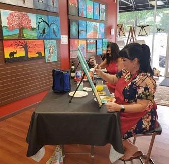 Painting Classes Cary NC - Art Studio