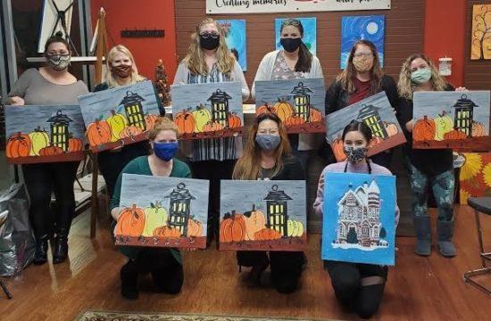 At Cheers N Paint Ladies Night Out Paint Party November, 2020 Cary, North Carolina
