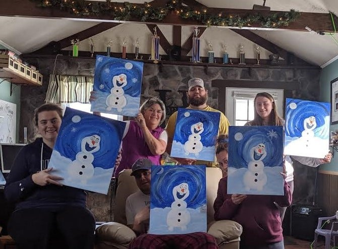Staying connected With Cheers & Paint