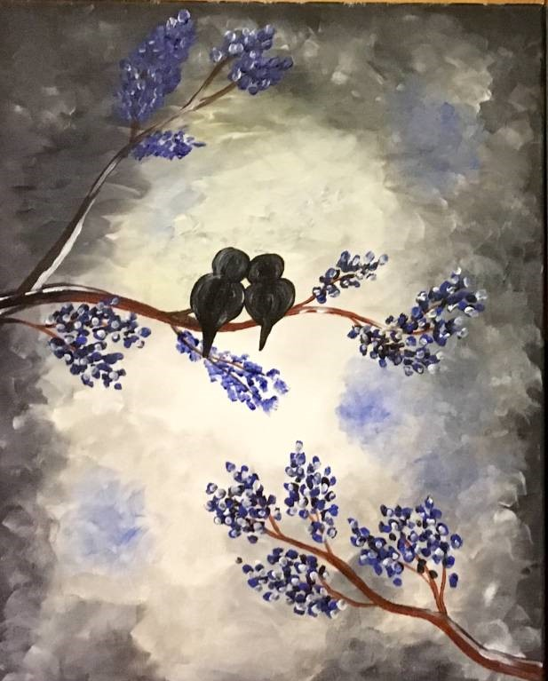 Pengiuns under the mistletoe