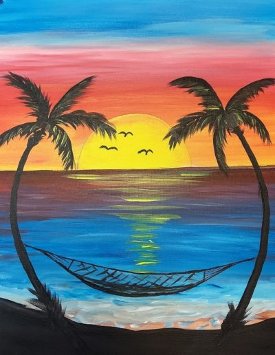 Paint Class: Hanging At The Beach In-Person And Virtual Sip &Amp; Paint Class At Cheers N Paint