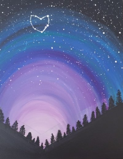 Paint Class: Milky Way: In-Person And Virtual Sip &Amp; Paint Class At Cheers N Paint In Cary, Nc
