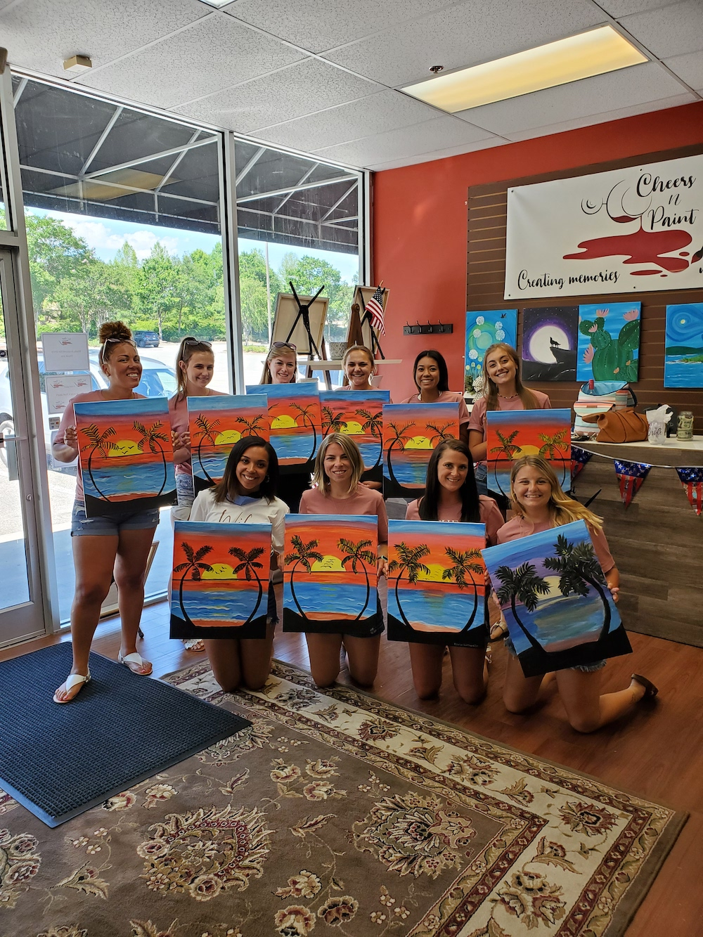 Private Paint And Sip Bachelorette Parties For The Bride To Be Hosted By Cheers N Paint The Best Paint And Sip Studio In Cary Nc