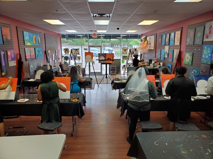 Bachelorette Parties With Cheers N Paint Cary Nc
