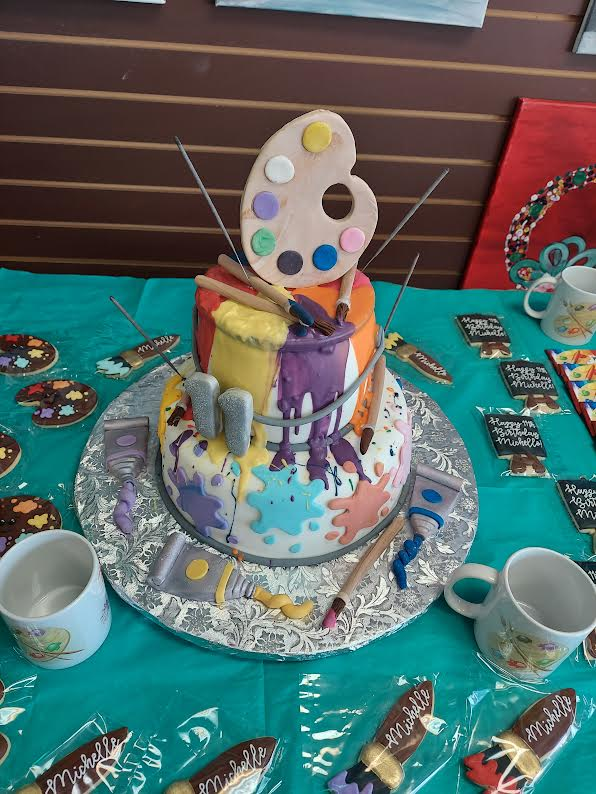 Kids Splatter Cake For Private Kids Paint Party